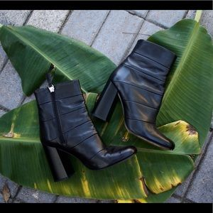 Black Leather Zara Boots